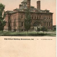 High School Building, Brownstown, Ind.