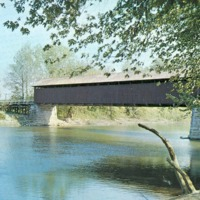 White River Covered Bridge, Jackson Co., Indiana - from Sara Marling Lucas, color 5.46 x 3.42