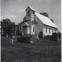 Dixon Chapel. - from Winfred (Bud) Cornett,  bw 3.53x4.85