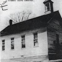Cornett Grove School House. - from Winfred (Bud) Cornett, bw 4.55x 5.22