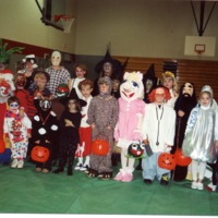 Halloween costume party - from the Brownstown Banner, 4.96 x 3.46, bw