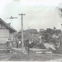 Seymour Depot in 1900 - from Sara Marling Lucas, bw 6.37 x 4.38