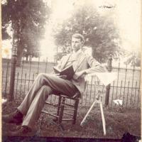 Man in yard