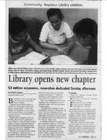 New library addition article, August 2005