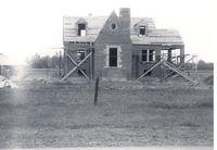 Rebuilding Kasting home at Cortland - completed in 1946.