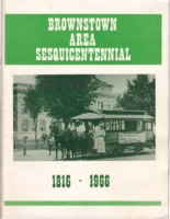 Brownstown Area Sesquicentennial booklet. 83 pages of Jackson County history and its notable people.