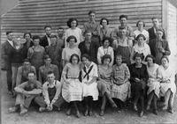 Freetown School, Freetown, IN. - from Freida Duchaine, bw 7.12x5.03