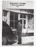 McKain Store in Cortland, Indiana, in 1941