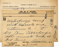 RXs given by Hyla Cartwright - from Jackson County Historical Society