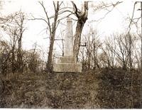 Tipton Island Marker, photo taken on 12-17-75 - Jackson County Historical Society