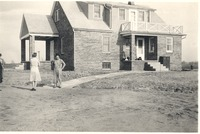 Kasting house at Cortland after being moved from Freeman Field and rebuilt.