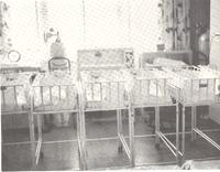 Hospital nursery for newborns - Tom Melton - Arvin Folks Magazine, July-August, 1957
