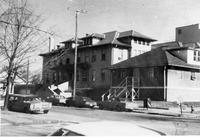 Hospital, Seymour in 1950s from Elaine Allman,  bw 6.64 x 4.55