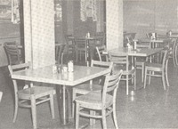 The new dining room more than doubled the size of the old one. - from Tom Melton - Arvin Folks Magazine, July-August, 1957