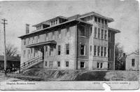 Seymour Hospital, ca 1911 - from Elaine Allman 3.5x5 bw postcard