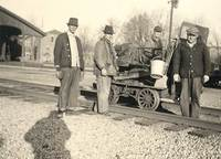 Baltimore and Ohio Railroad Section Crew in Medora IN about 1922