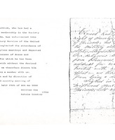 Document removing Elwood Ruddick from the Society of Friends - from Jackson County Historical Society