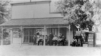 Mullins Saloon, Sparksville, IN, in the early 1900s. - from Paul Carr, 4 1/2 x 6, bw