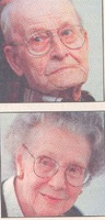 Omer and Thelma Trimpe of Cortland, IN - Tribune photo 11-1-98.