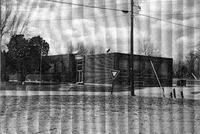 Freetown School building, Freetown, IN. - from Winfred (Bud) Cornett, bw 4.96x3.33