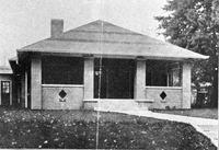 Schneck Memorial Nurses Home - dedicated Nov. 14, 1921, Seymour. - from Elaine Allman, bw 5.18x3.55